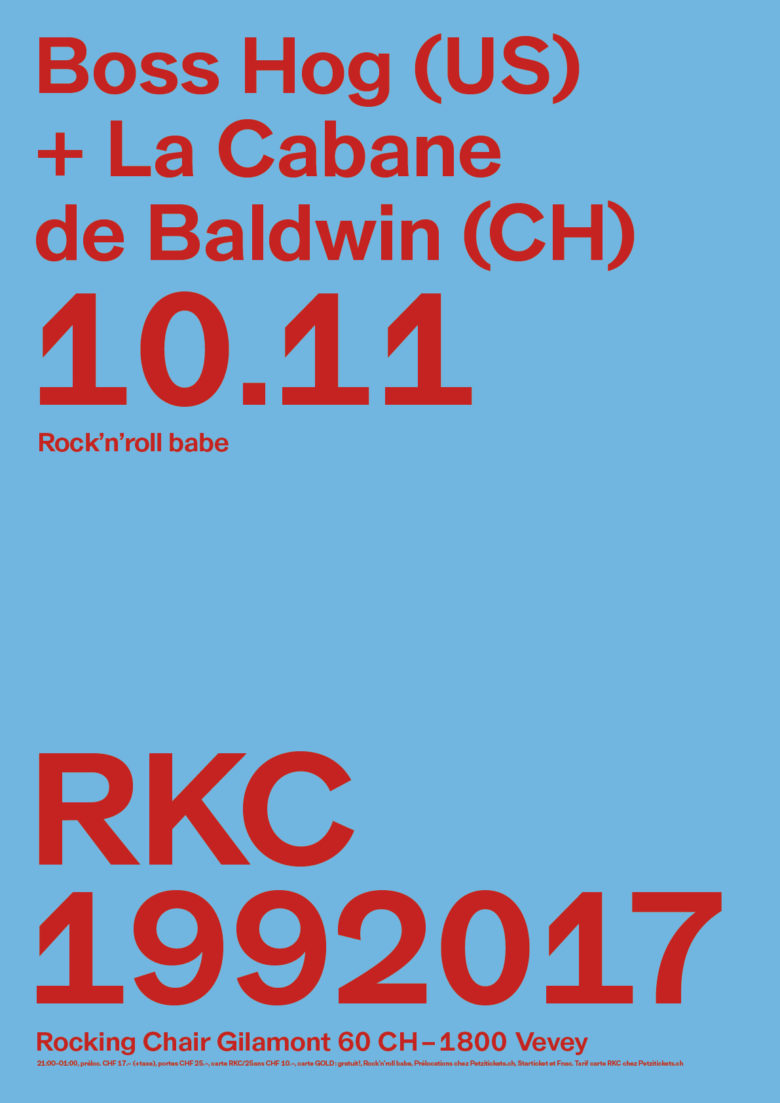 BOSS HOG (US) + LA CABANE DE BALDWIN (CH) - Rocking Chair Vevey