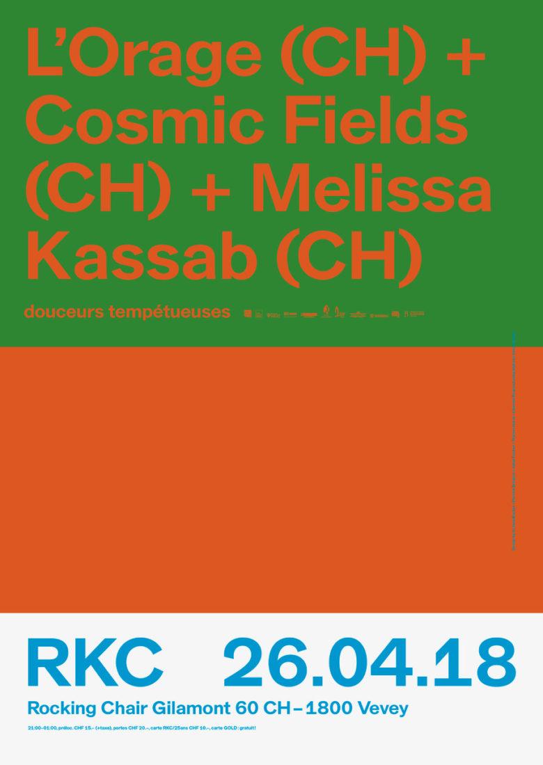 L'Orage (CH) + Cosmic Fields (CH) + Melissa Kassab (CH) - Rocking Chair Vevey
