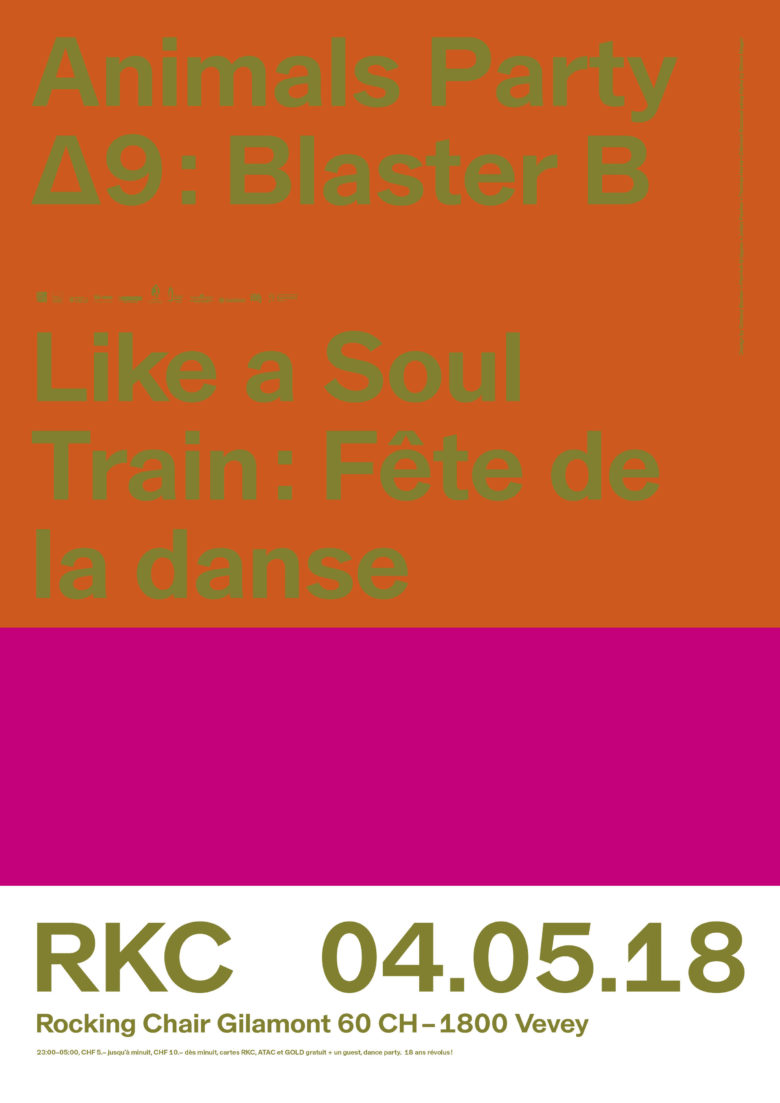 Animals Party ∆9 – DJ Blaster B (Soul Train – Fête de la danse) - Rocking Chair Vevey