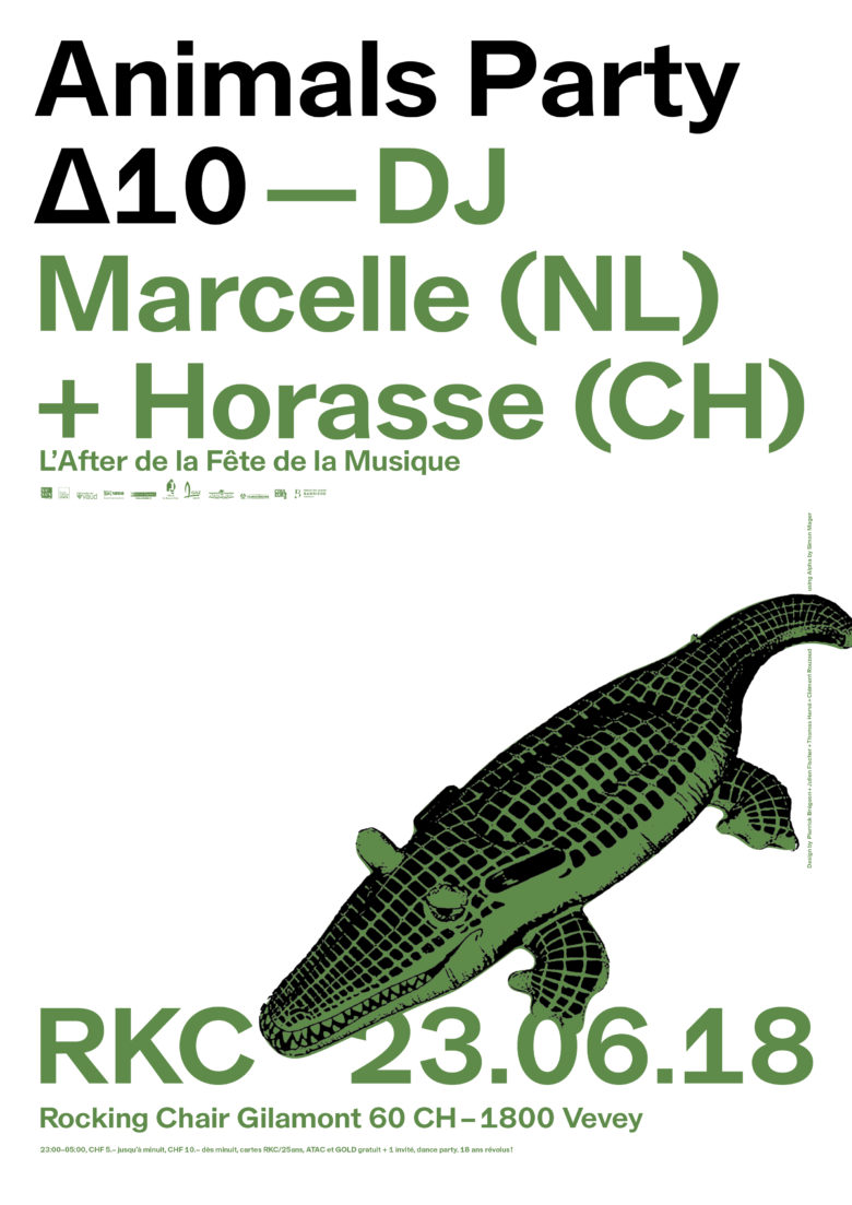 Animals Party ∆10 – DJ Marcelle (NL) + Horasse (CH) - Rocking Chair Vevey