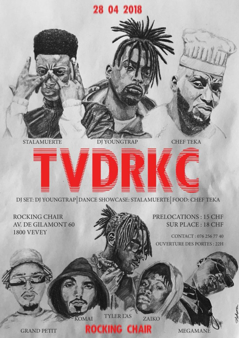 TVDRKC : TVDZ (CH) + DJ YOUNGTRAP (CH) + STYLEZ'C (CH) + CHEF TEKA (CH) - Rocking Chair Vevey