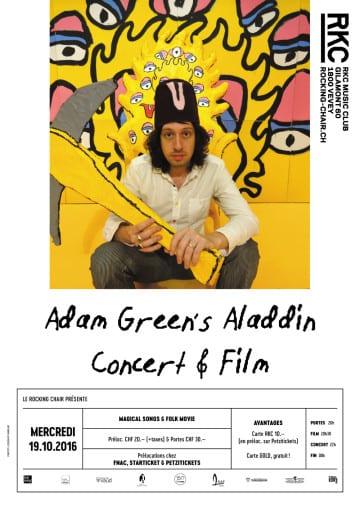 ADAM GREEN'S ALADDIN (US) – CONCERT & MOVIE TOUR - Rocking Chair Vevey