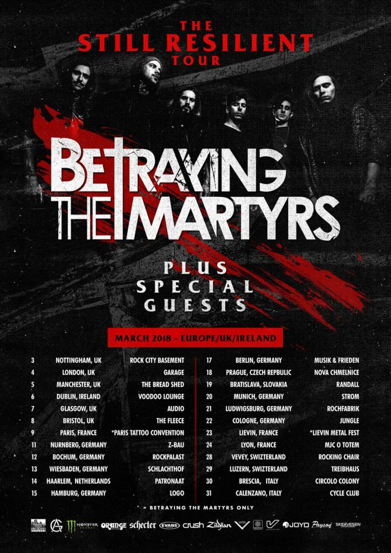 BETRAYING THE MARTYRS (FR) + Modern Day Babylon (CZ) + From Sorrow To Serenity (UK) + AM:PM (CH) - Rocking Chair Vevey