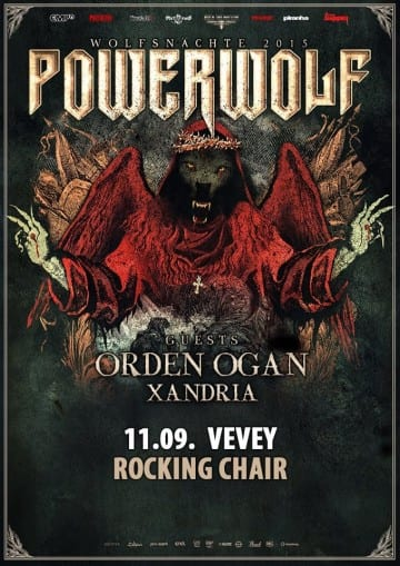 POWERWOLF (DE) + ORDEN OGAN (DE) + XANDRIA (DE) - Rocking Chair Vevey