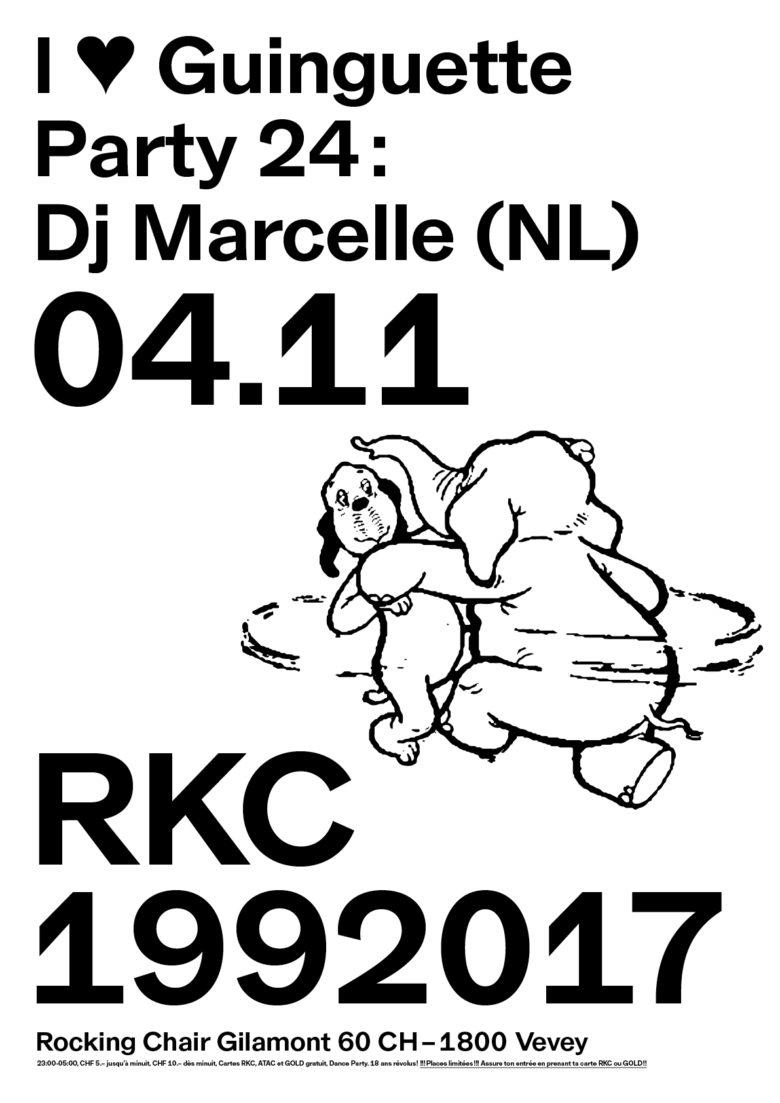 I ♥ GUINGUETTE PARTY #24 – DJMARCELLE (NL) - Rocking Chair Vevey