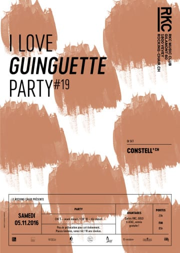 I ♥ GUINGUETTE PARTY #19 – CONSTELL' - Rocking Chair Vevey