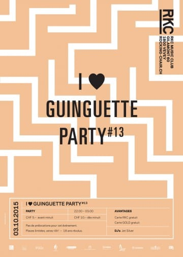 I ♥ GUINGUETTE PARTY #13 – Jet  Silver Dj set - Rocking Chair Vevey