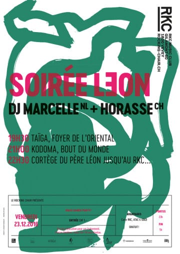 SOIRÉE LƎON – DJ MARCELLE (NL) + HORASSE (CH) - Rocking Chair Vevey