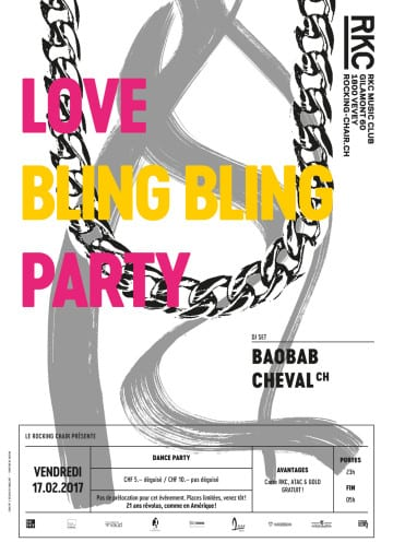 LOVE BLING BLING PARTY – BAOBAB CHEVAL - Rocking Chair Vevey