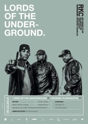 LORDS OF THE UNDERGROUND (US) + ORIGINAL FLOW MASTAZ (CH) - Rocking Chair Vevey