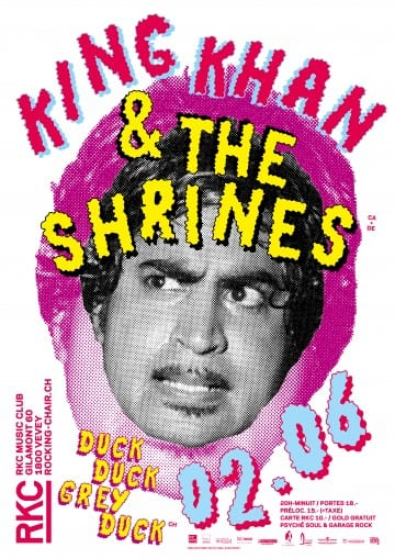 KING KHAN & THE SHRINES (CA/DE) + DUCK DUCK GREY DUCK (CH) - Rocking Chair Vevey
