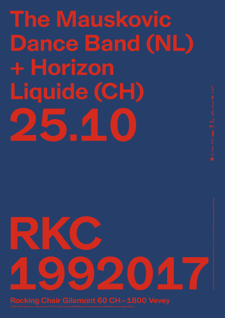 THE MAUSKOVIC DANCE BAND (NL)+ HORIZON LIQUIDE (CH) - Rocking Chair Vevey