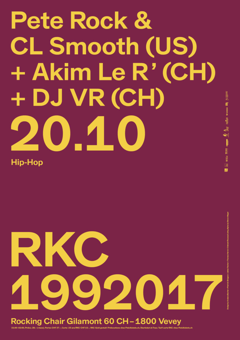 PETE ROCK & CL SMOOTH (US) + AKIM LE R' (CH) + DJ VR (CH) - Rocking Chair Vevey