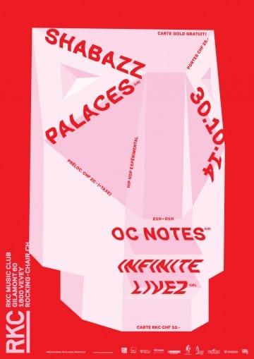 Shabazz Palaces (US) + Infinite Livez (UK) + OC Notes (US) - Rocking Chair Vevey
