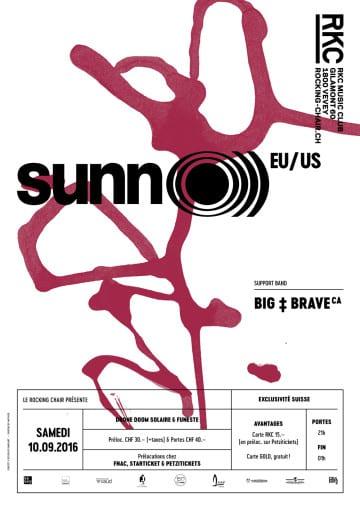 SUNN O))) (US) + BIG BRAVE (CA) - Rocking Chair Vevey