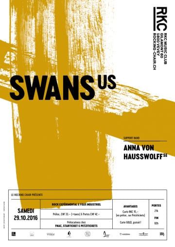 SWANS (US) + ANNA VON HAUSSWOLFF (SE) - Rocking Chair Vevey
