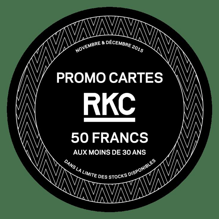 Promo Carte RKC 50.- pour les -30 ans - Rocking Chair Vevey