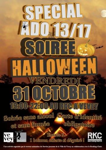 SOIRÉE HALLOWEEN 13/17 – SPÉCIAL ADOS - Rocking Chair Vevey