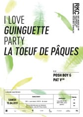 GUINGUETTE PARTY : LA TOEUF DE PÂQUES  – DJ POSH BOY & PAT V - Rocking Chair Vevey